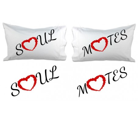 Couple Pillow Soul Mate [18 x 13 Inches - 2 Pillow]