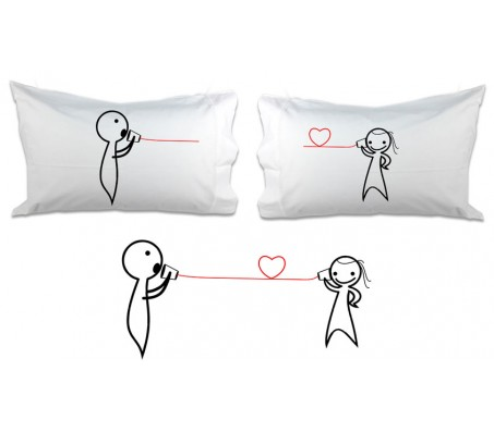 Couple Pillow I Love Listening To You - You Make Me Laugh [18 x 13 Inches - 2 Pillow]
