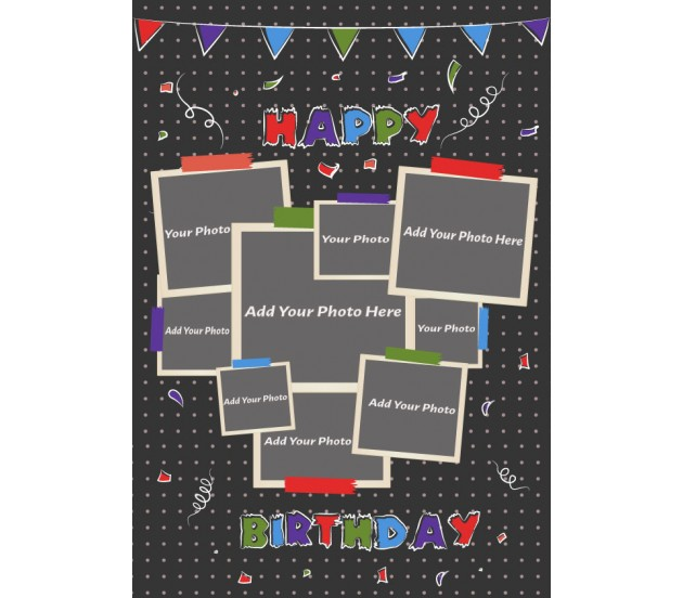 The Love Collage Happy Birthday Card