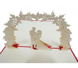 3D Couple Inside Garden I Love You Cards Laser Cut Specially Imported from UK