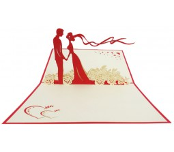 3D Couple I Love You Cards Laser Cut Specially Imported from UK