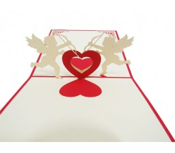 Cupid With Hearts I Love You Cards Laser Cut Specially Imported from UK
