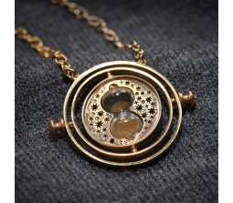 Movie Inspired Time Turner Necklace Rotating Hourglass Pendent