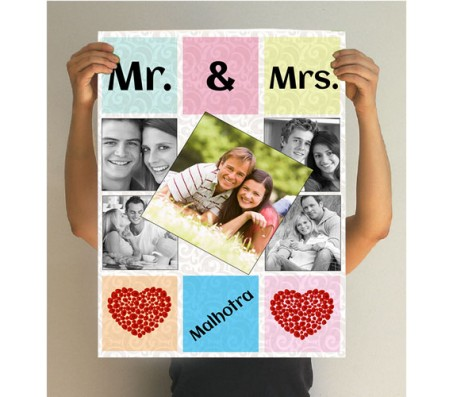 Mr and Mrs Collage Poster