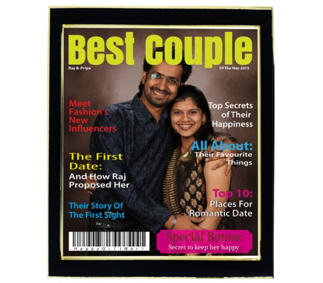Personalized Best Couple Magazine Cover