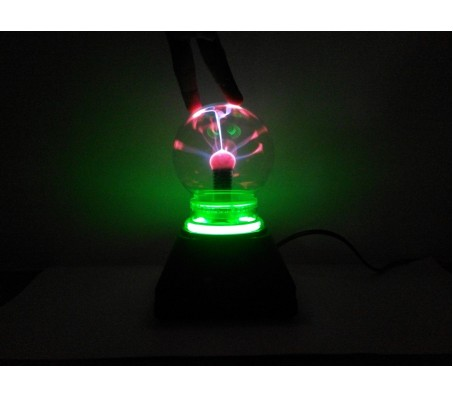 "4"" Musical Plasma Light Lamp Glows Brighter on Finger Touch"