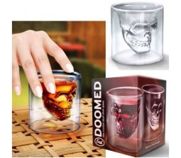 SKULL DOOMED SHOT GLASS Medium Size 4 Inches