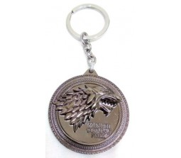 Game of Thrones Winter Is Coming KeyChain Dark Silver