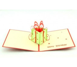 Gift Box Happy Birthday Card Laser Cut Specially Imported from UK