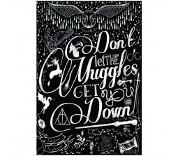 Harry Potter Dont Let The Muggles Get You Down Motivational With Symbols  Poster By Happy GiftMart Licensed by WB