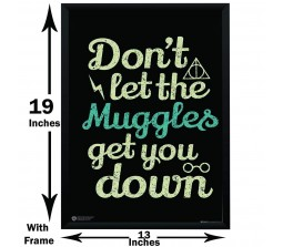 Harry Potter Dont Let The Muggles Get You Down Motivation Poster By Happy GiftMart Licensed by WB