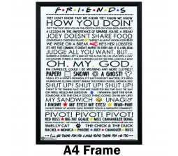 Friends Typograph Quotes Saying Infographic White Poster by Happy GiftMArt Licensed by WB