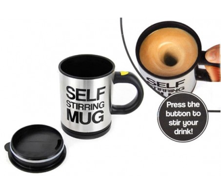Self Stirring Mug With Lid For Coffee Tea Juice Novelty Gift