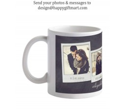 Happy GiftMart Personalized Collage Mug With Your Photos & Messages