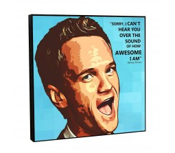 How I Met Your Mother Barney Stinson Motivational Inpirational Quote Pop Art Wooden Frame Poster
