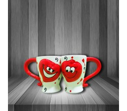 2 Hearts Loving Hugging Each Other Couples Mug Romantic Gift