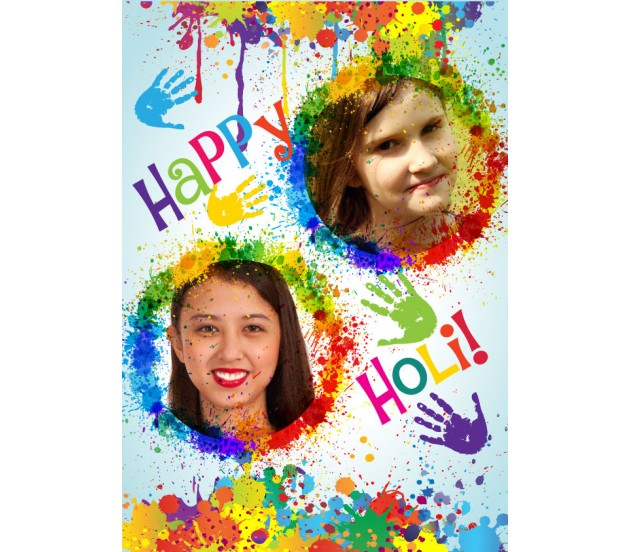 Personalized happy holi greeting card m4hsunfo