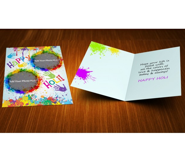 Personalized Happy Holi Greeting Card