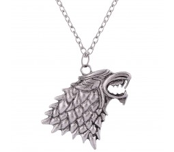 Game of Thrones GOT Stark Winter is Coming Wolf Pendant Necklace Mens Womens Jewellery