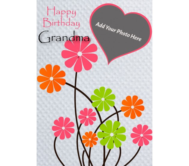 We Love You Grandmother Personalized Happy Birthday Card