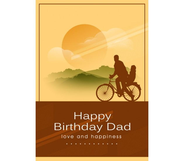 Lucky To Have A Father Like You Birthday Greeting Card