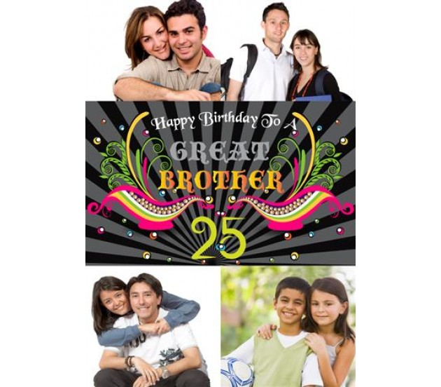 Birthday greeting card for a great brother collage birthday greeting card for a great brother bookmarktalkfo Gallery