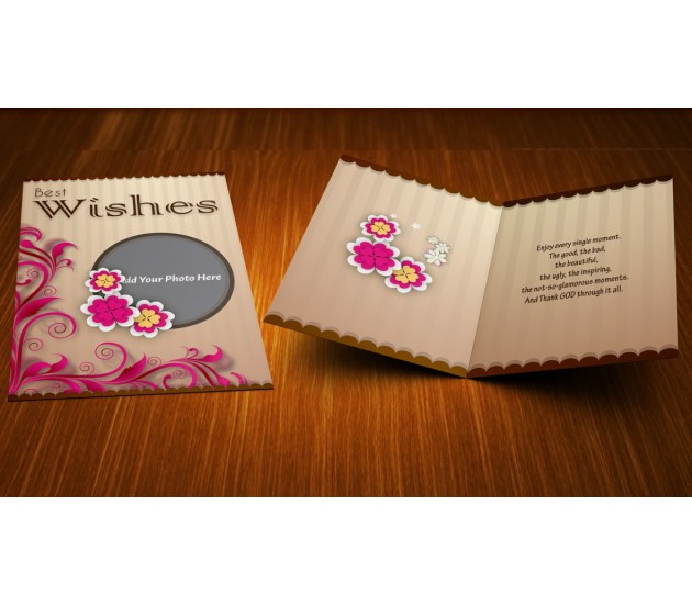 Personalized best wishes elegant greeting card for Best personalized christmas cards