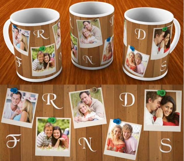 Friends Collage Personalized Mug