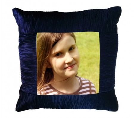 Personalized Dark Blue Pillow In Square Shape [15 X 15 inches]