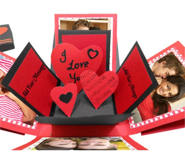 3 layer love exploding gift box with hearts inside negle Gallery