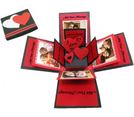 3 Layer Love Exploding Gift Box With Hearts Inside