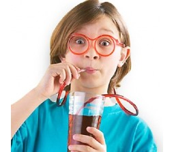 New Silly Straw Drinking Eyeglass [Set Of 2]