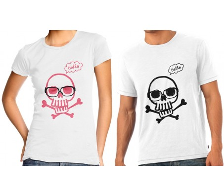 Couple T Shirts With Skull Design