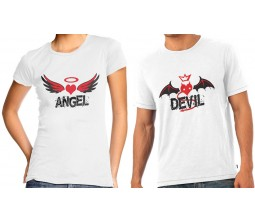 Angel & Devil Couple T-Shirts