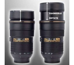ZOOM-ABLE! Nikon Camera AFS 24-70mm Lens cup Coffee Mug Stainless