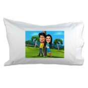 Caricature Couple Pillows