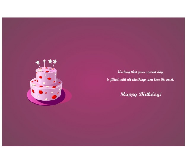 Free Scratch Cards >> Pink Background Love Collage Happy Birthday Card