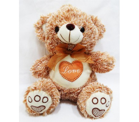 Brown & White Teddy New Innovative Style Medium Size [14 inches]