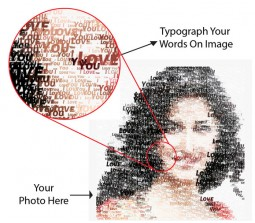 Your Message To Your Desired Photo Special Poster