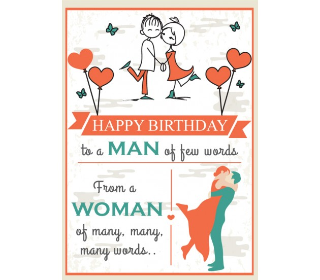 Romantic Happy Birthday Card For Your Husband