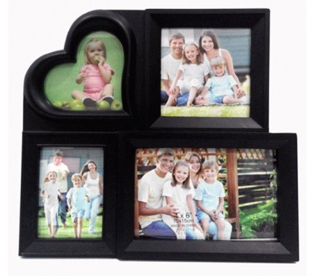 Heart Four Collage Photo Frame