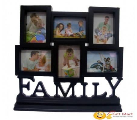 Family Collage Photo Frame 6 Photos [Black]