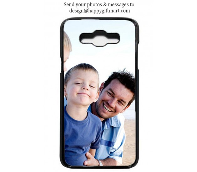 on sale 5e7d1 28c61 Personalized Samsung J7 Case / Mobile Back Cover Transparent border With  Your Own Photo and Message