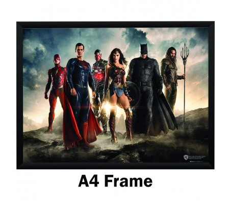 Justice League Flash Batman Wonder Woman Aquaman Cyborg Poster By Happy GiftMart Licensed by WB