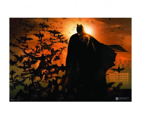 Batman Bats Flying Poster by Happy GiftMart Licensed by WB