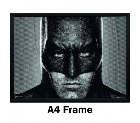 Batman Ben Affleck Closeup BW Poster by Happy GiftMart Licensed by WB