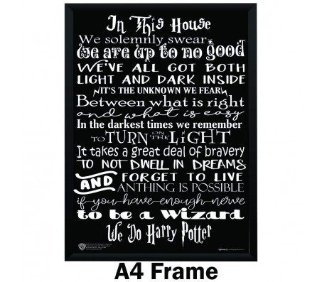 Harry Potter In This House Quotes Poster By Happy GiftMart  Licensed by WB