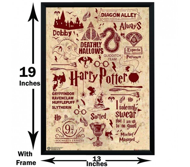 harry potter quotes art typography poster by happy giftmart
