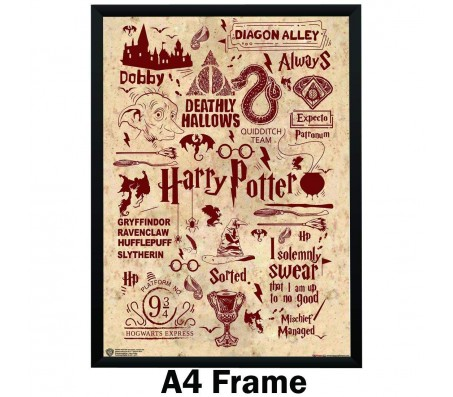 Harry Potter Quotes Art Typography Poster By Happy GiftMArt Licensed by WB