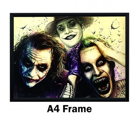 All 3 Main Jokers Heath Ledger Jack Nicholson and Jared Leto Poster by By Happy GiftMart  Licensed by WB